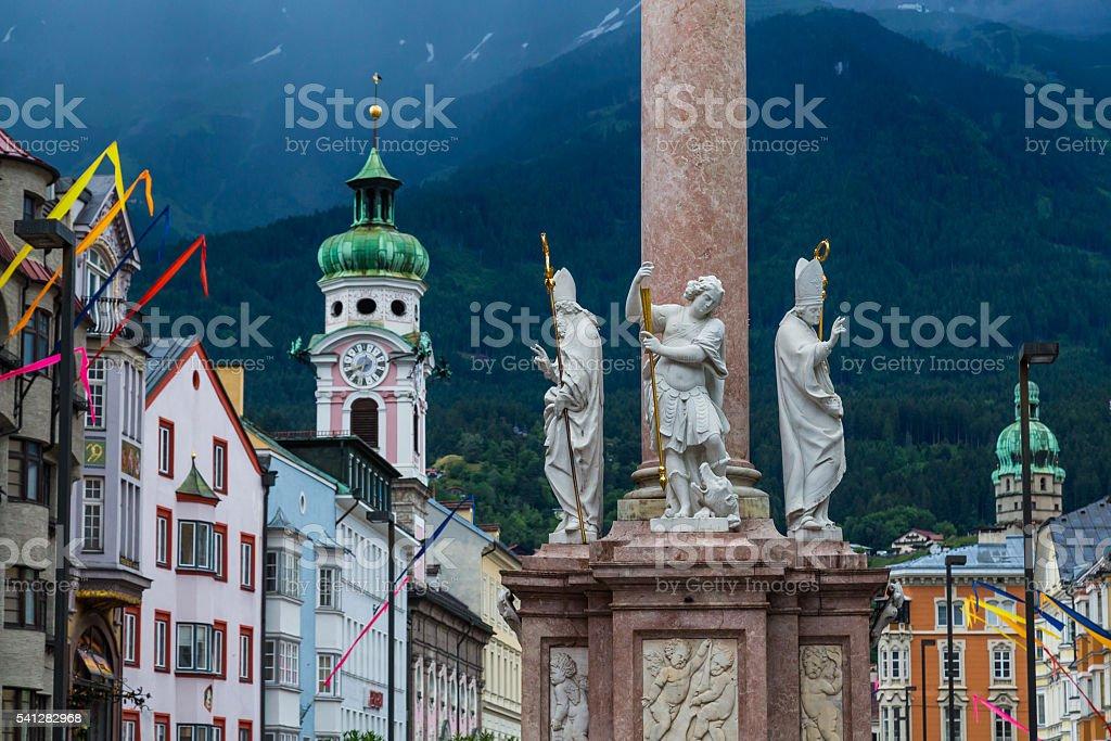 Maria-Theresien-Strasse in Innsbruck stock photo
