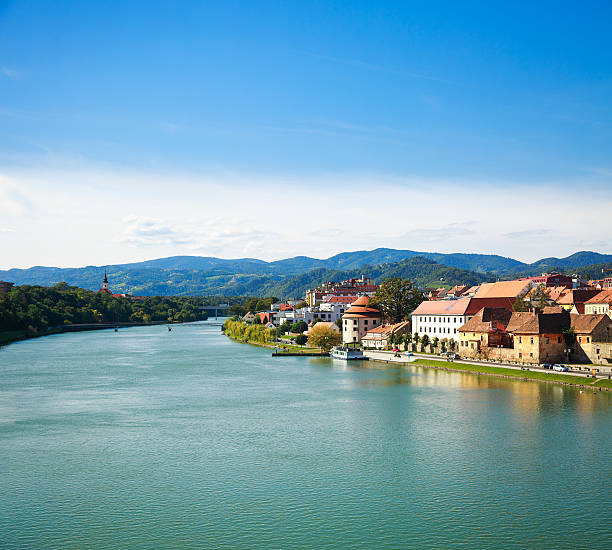 Maribor Blick auf die Altstadt. Slowenien, Europa. – Foto