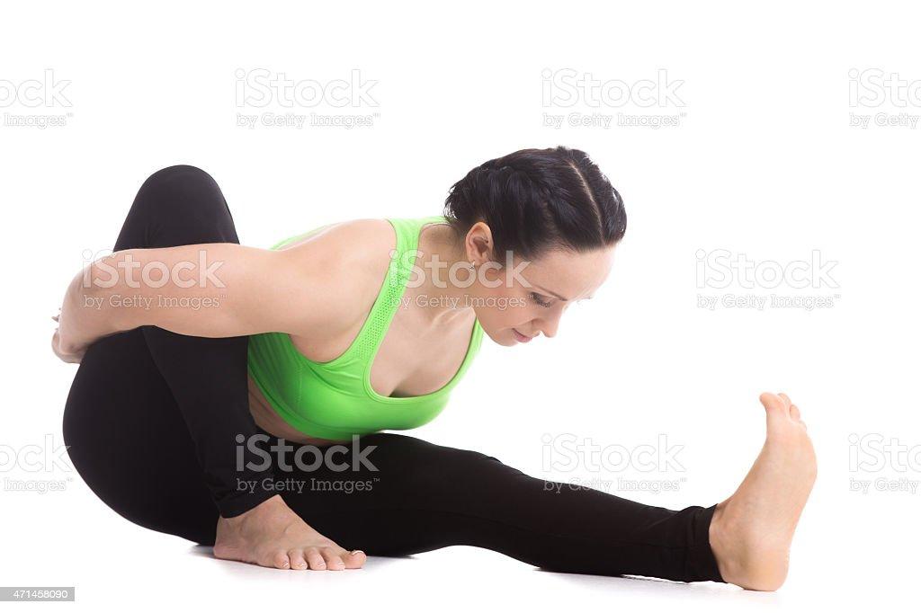 Marichyasana I Yoga Pose Stock Photo Download Image Now Istock