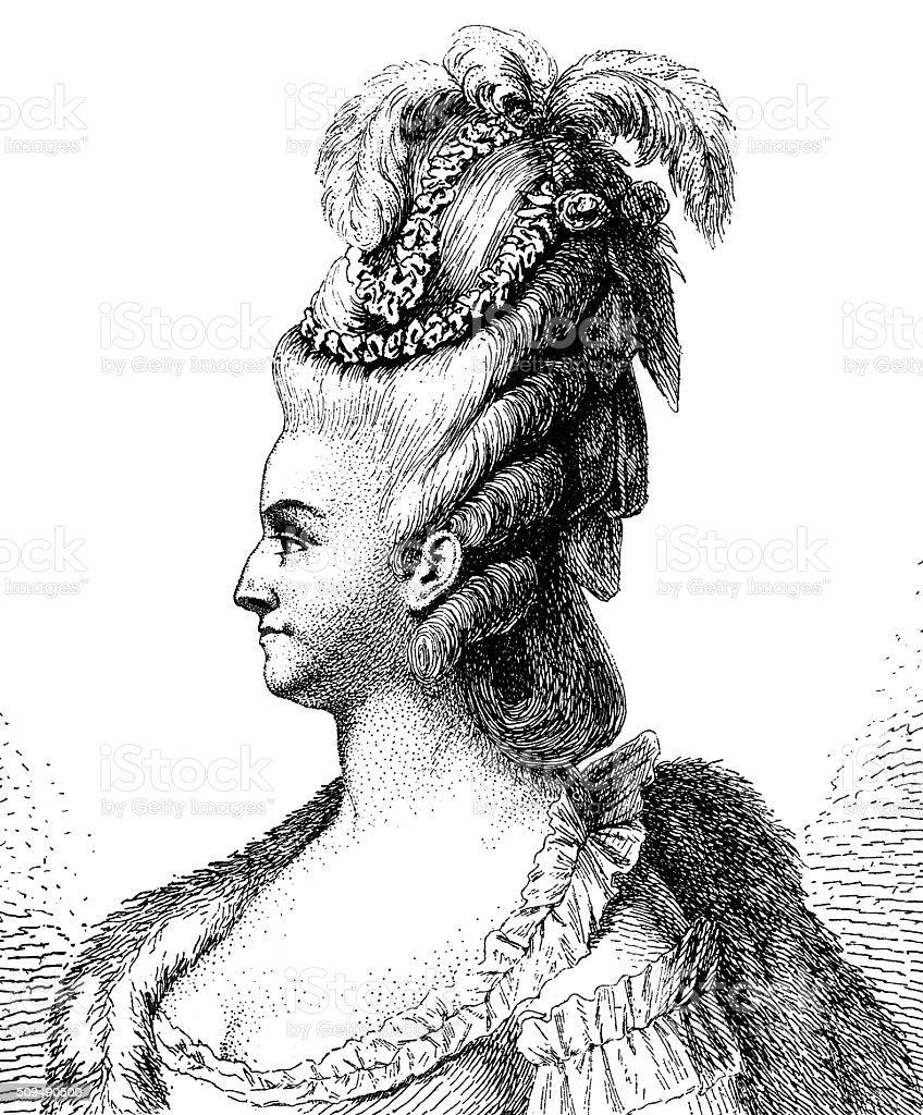 Marie Antoinette 1890 stock photo