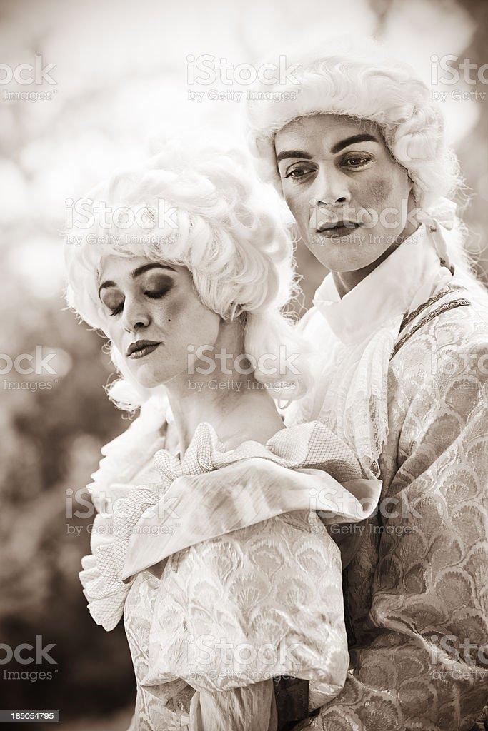 Marie Antoinette und gutaussehenden Mann auf Ihrer Seite – Foto
