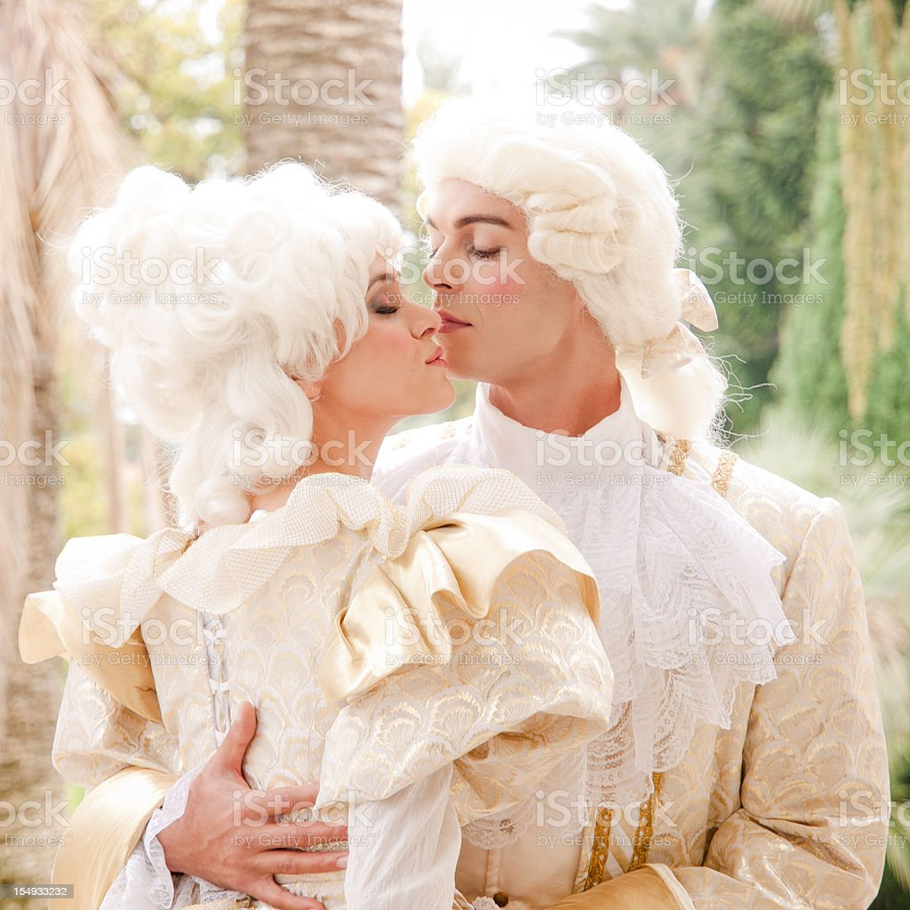 Marie Antoinette and her suitor stock photo