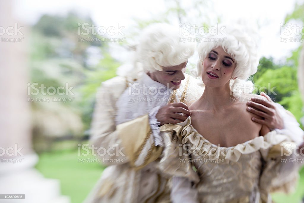Marie Antoinette Flirting With Her Friend royalty-free stock photo