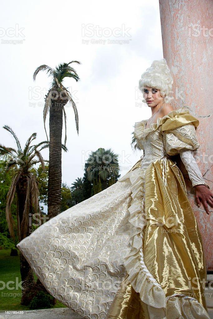 Marie Antoinette model stock photo
