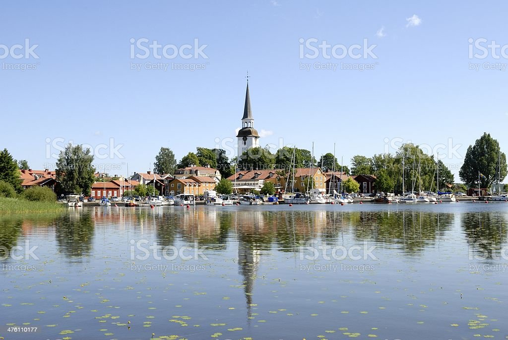 Mariefred city center stock photo