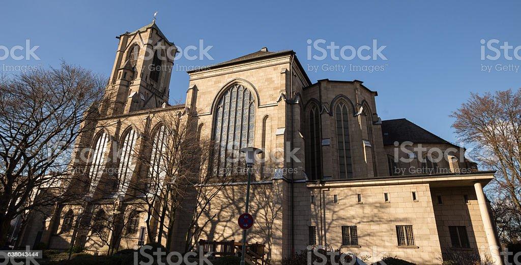 marien church neuss germany stock photo