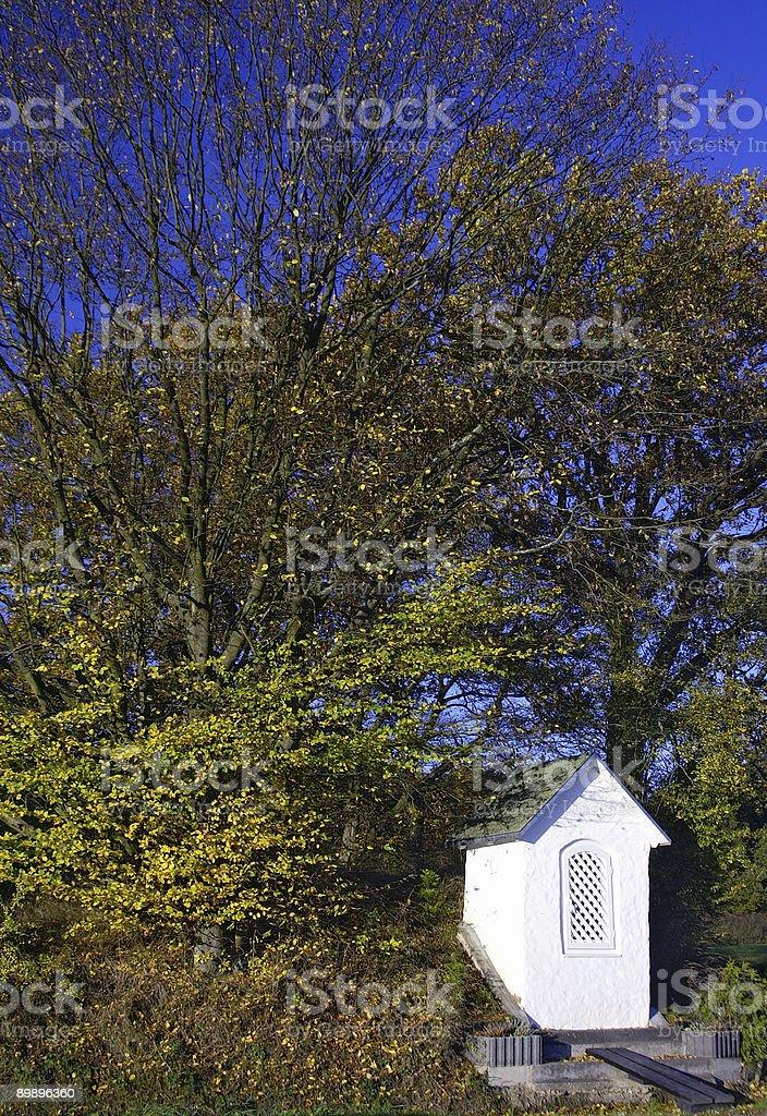 Осень фон Marienaltar против Стоковые фото Стоковая фотография