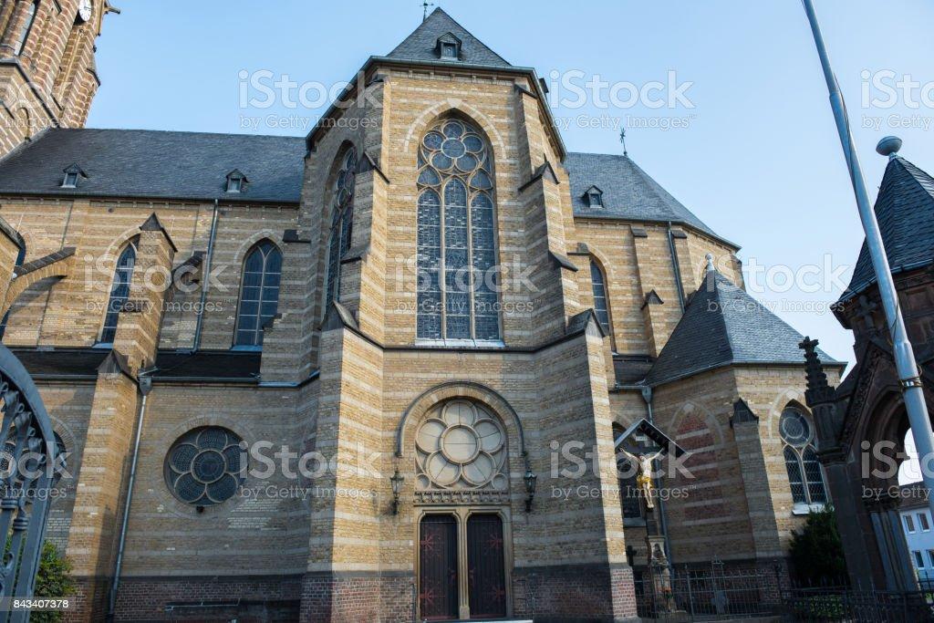 Marienkirche in Gusdorf near Grevenbroich in the evening sun stock photo