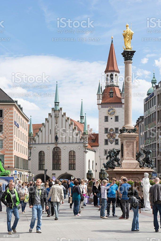 Marienplatz in Munich stock photo