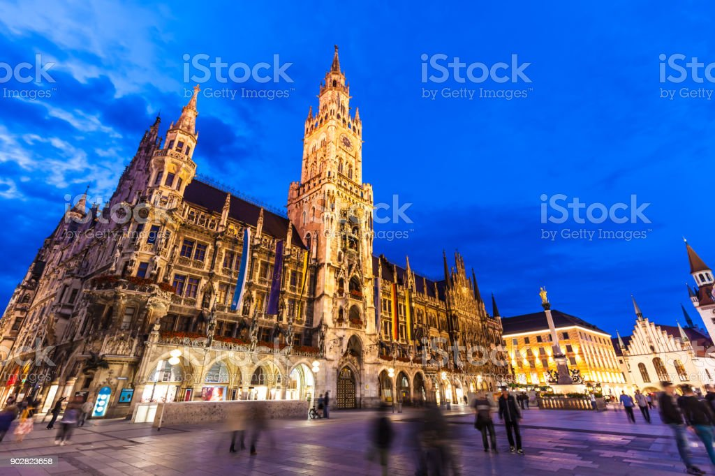 Marienplatz in Munich stock photo