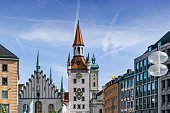 istock Marienplatz in Munich with old town hall 1177029489