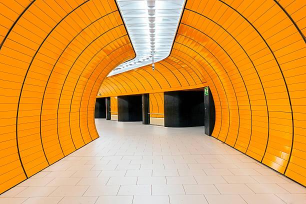 marienplatz subway station in munich - marienplatz bildbanksfoton och bilder