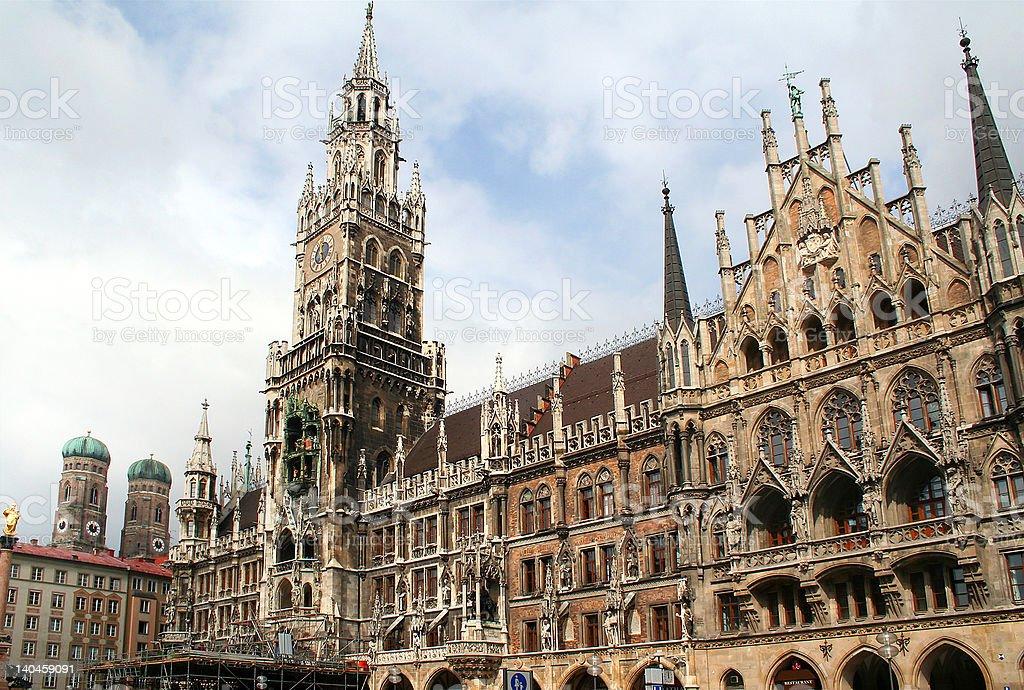 Marienplatz Town Hall Building royalty-free stock photo