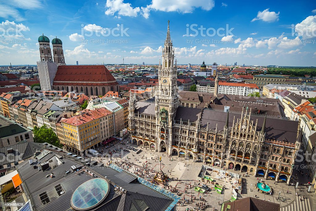 Marienplatz town hall - Munich - Germany Marienplatz town hall - Munich - Germany 2015 Stock Photo