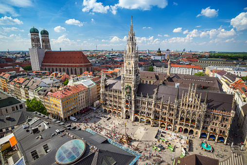 Marienplatz Town Hall Munich Germany Stock Photo - Download Image Now