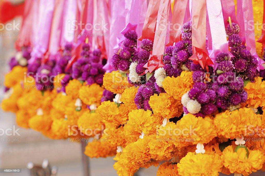 marigold Garlands stock photo