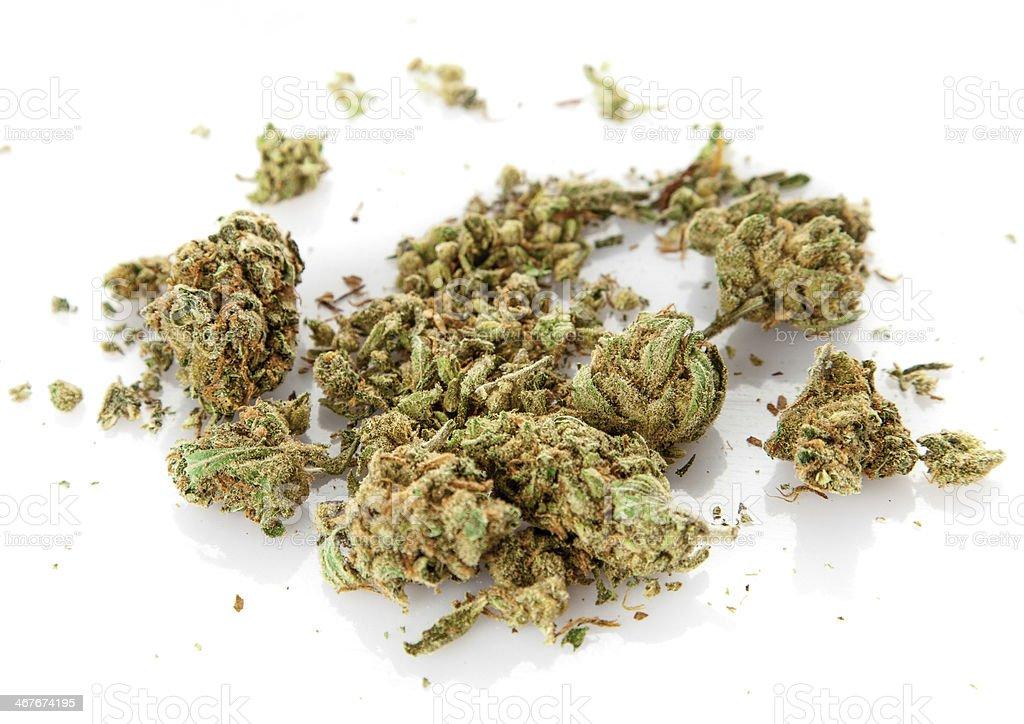 Marihuana on a white background stock photo