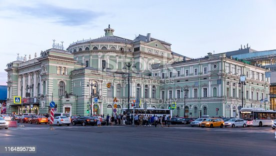 June 19, 2019. Saint Petersburg, Russia. Mariinsky Theatre is a historic theatre of opera and ballet in Saint Petersburg, Russia.