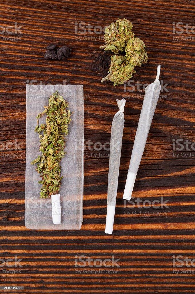 Marijuana abuse. stock photo