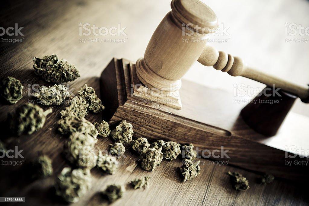 Marijuana and criminallity stock photo