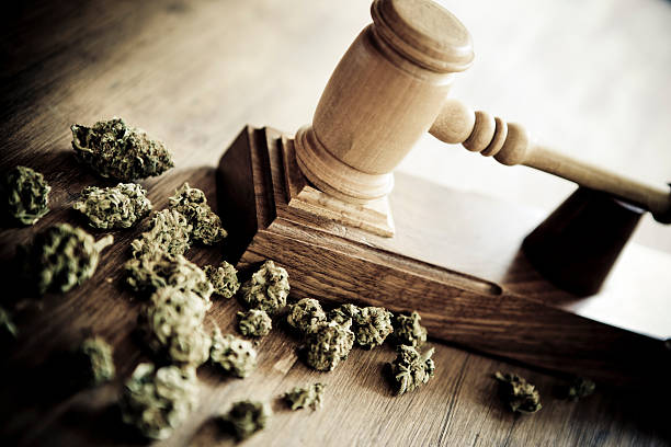 Marijuana and criminallity stock photo