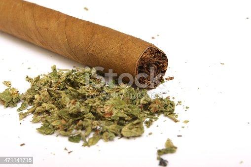 marijuana blunt close up