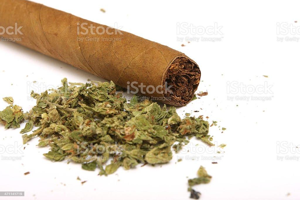 marijuana blunt close up stock photo