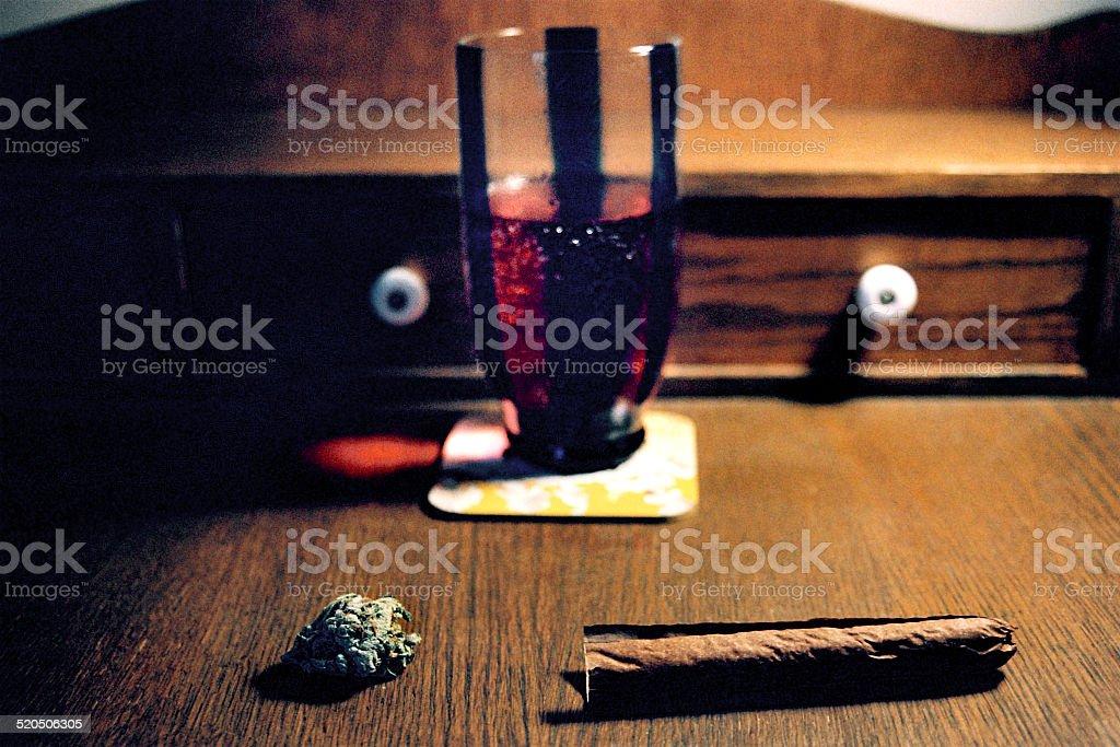 Marijuana, Blunt, & Lean stock photo