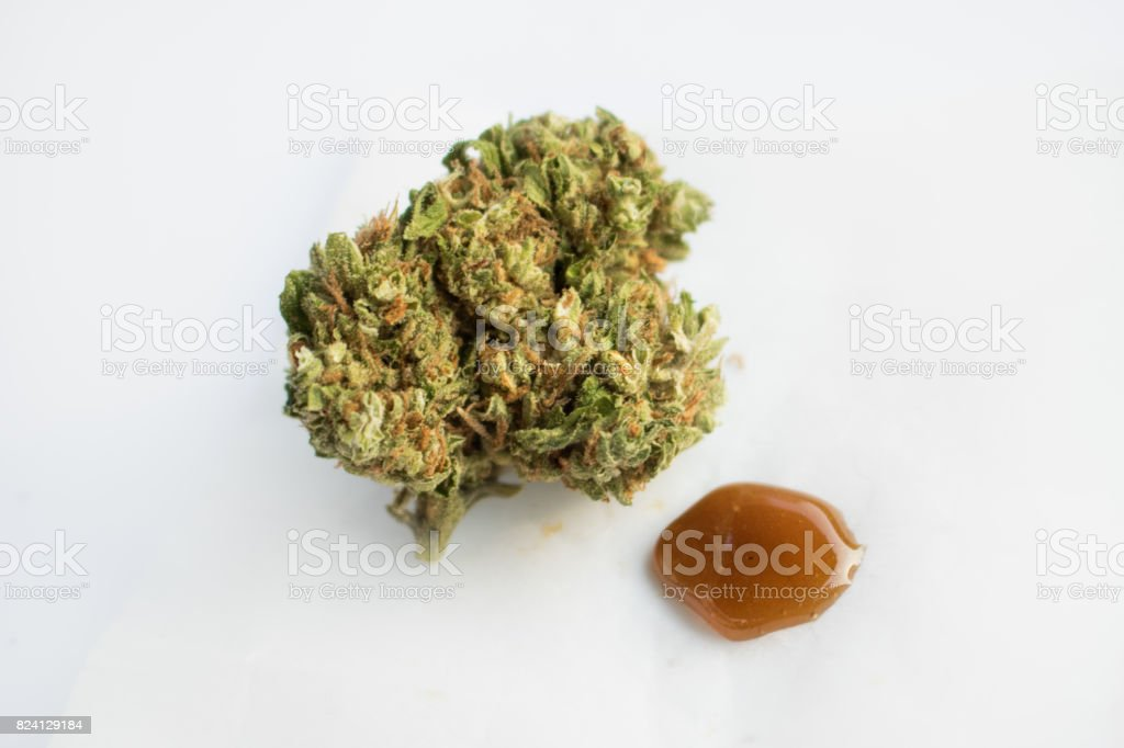 Marijuana Bud & Wax stock photo