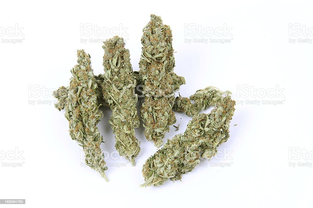 Marijuana flower sticks isolated stock photo