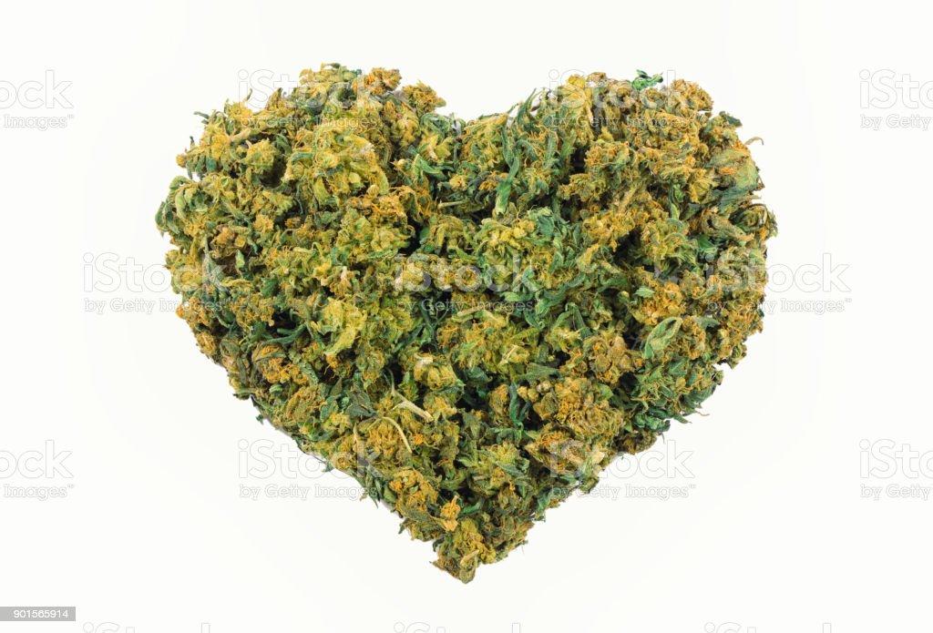 Marihuana-Herzform – Foto