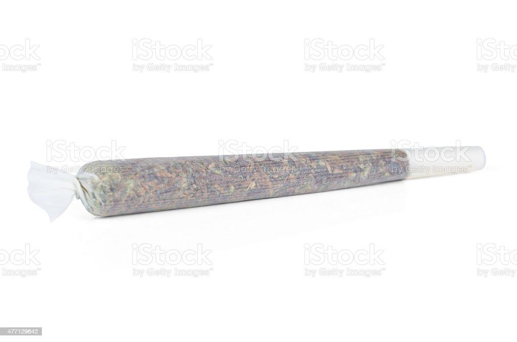 Marijuana joint from Amsterdam isolated on white stock photo