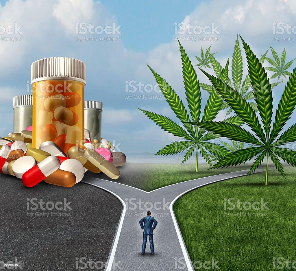 Marijuana Medical Choice stock photo
