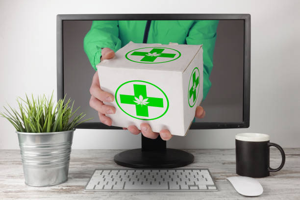 Marijuana Medical Fast Shipping  Express Delivery OnLine - foto stock