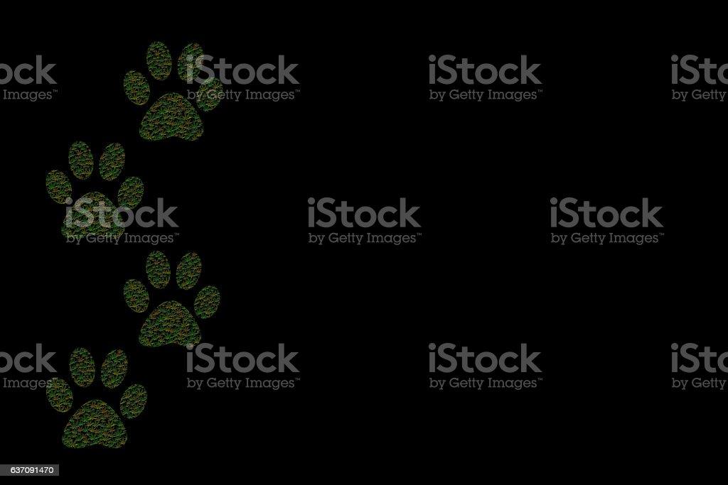 Marijuana Paw Prints stock photo