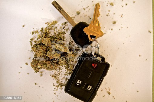 Marijuana with car keys