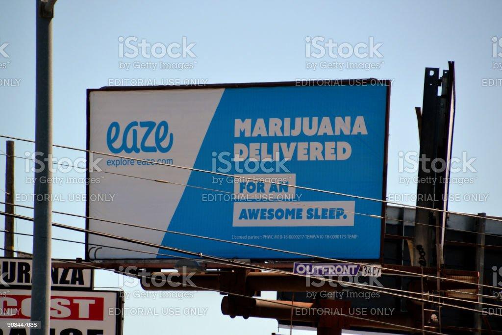 É.-u., LA, la Marijuana - Photo de Affiche libre de droits