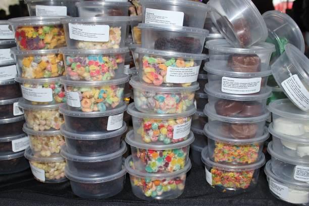 Marijuana products: edible treats stock photo