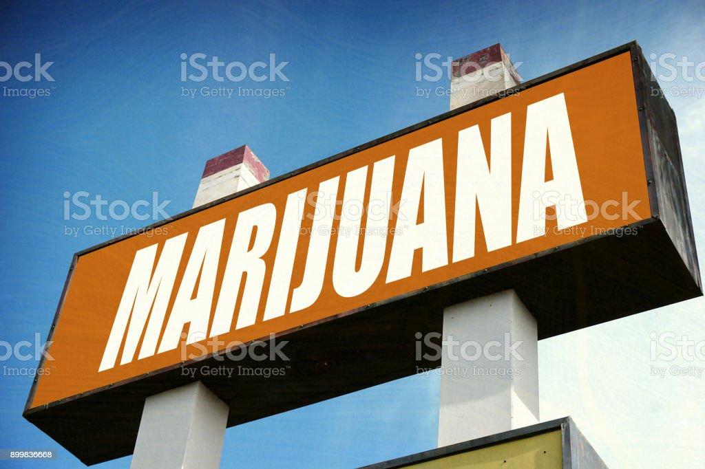 marijuana sign stock photo