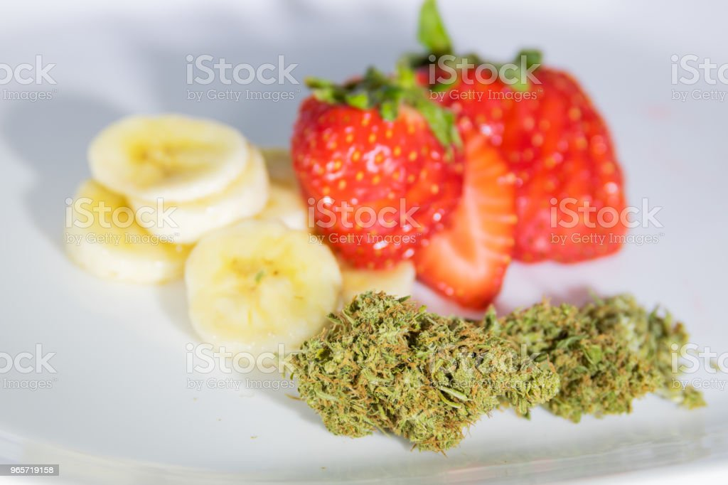 Marijuana, Strawberries, & Bananas - Royalty-free Banana Stock Photo