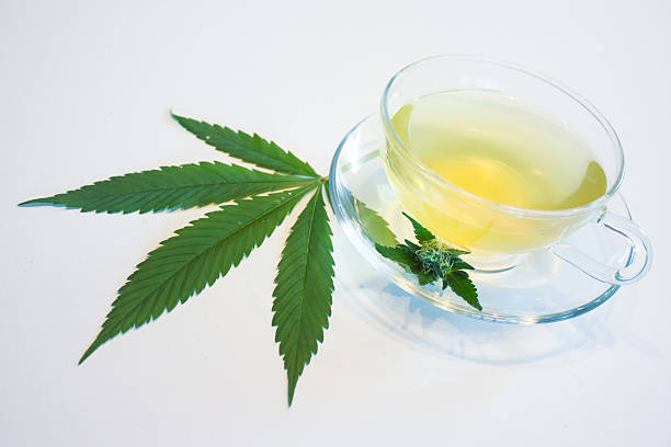 Marijuana Tea stock photo