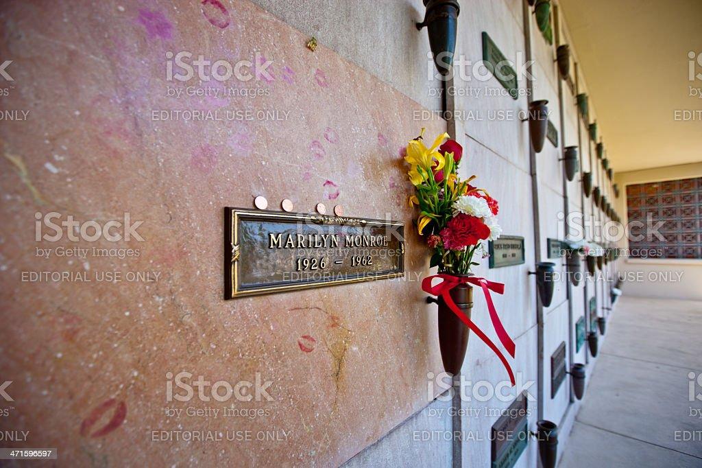 Marilyn Monroe Grave,  Los Angeles stock photo