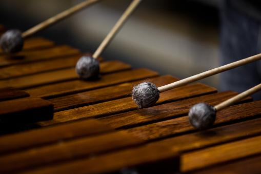 Marimba fragment closeup