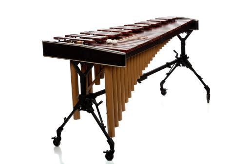 Marimba on white background