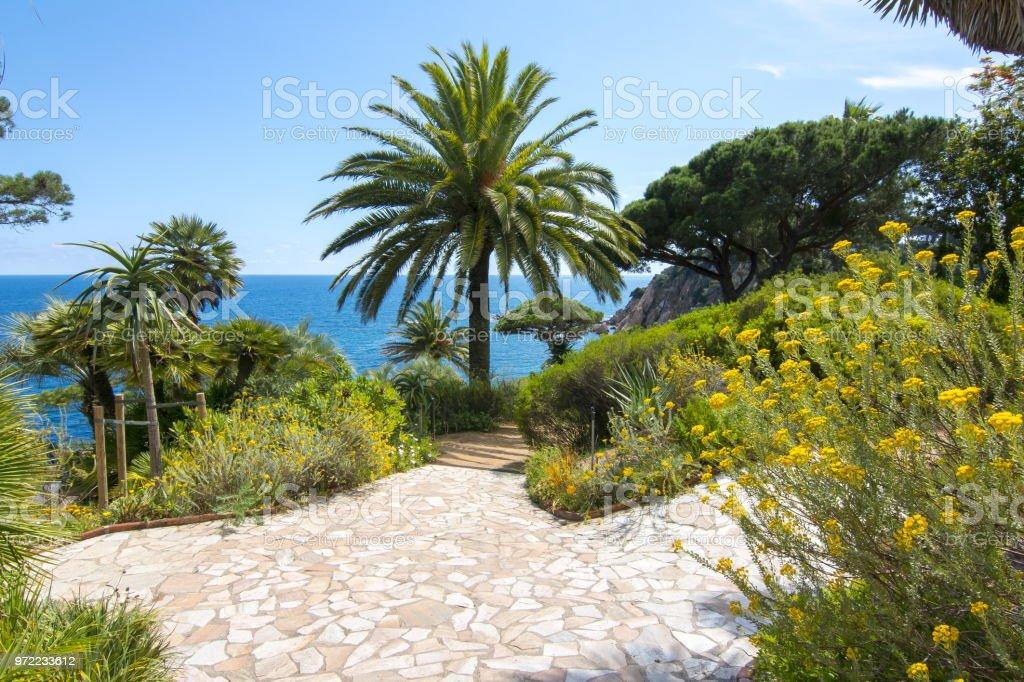 Ortschaften Botanischen Garten In Blanes In Der Nähe Von Barcelona