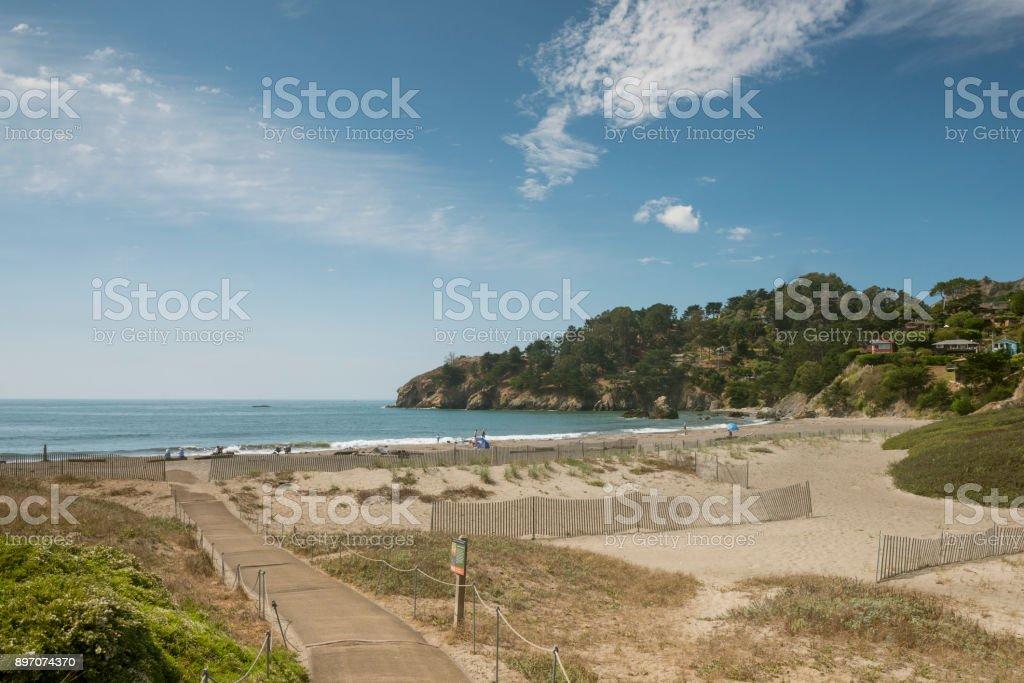 Marin County California Muir Beach Nature Landscape USA stock photo
