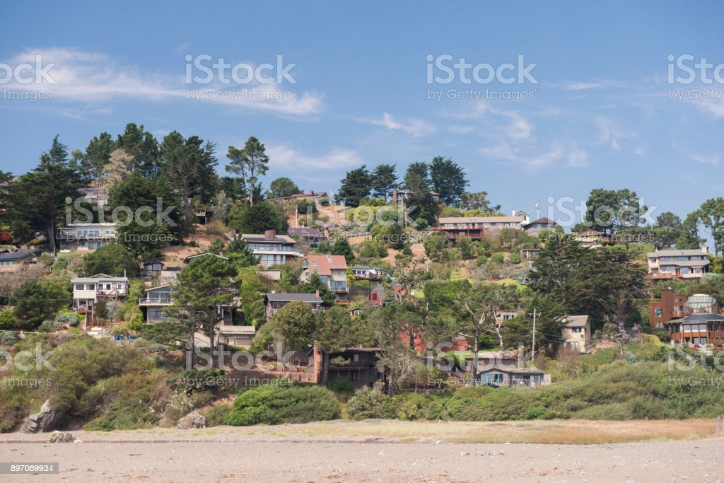 Marin County Muir Beach California Residential Neighborhood Home Real Estate stock photo
