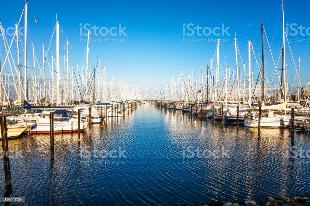 Marina an der Ostsee - Lizenzfrei Beschaulichkeit Stock-Foto