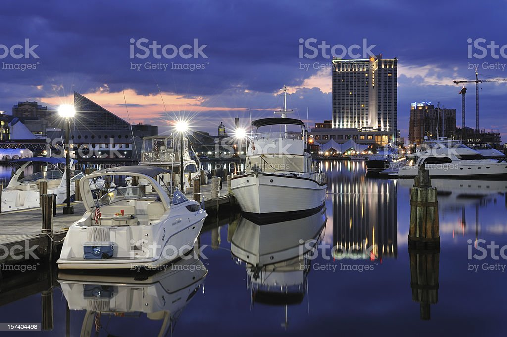 Marina at Baltimore royalty-free stock photo