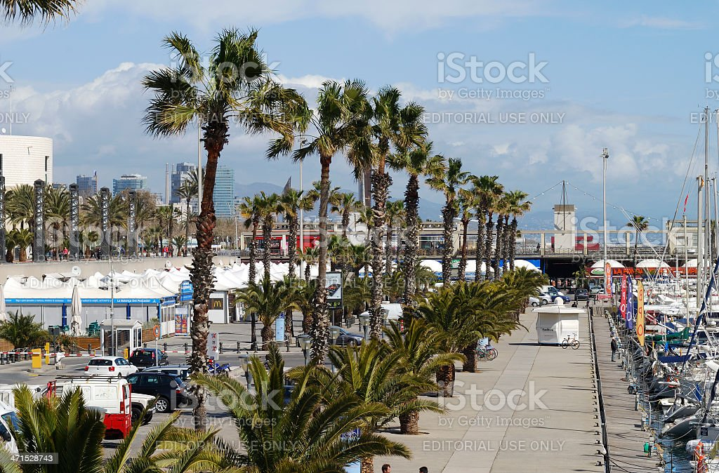 Marina at Barcelona. Spain royalty-free stock photo